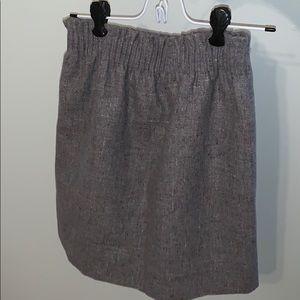 J. Crew Sidewalk Skirt Gray Size 00